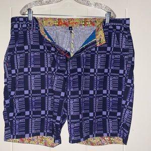 Robert Graham Men's Blue Paisley Print Shorts
